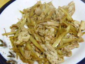 ささがきごぼうと豚肉の炒め物