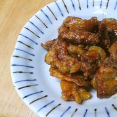 鶏皮のカリカリ*照り焼き仕立て