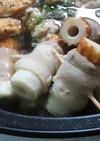 超簡単♫お鍋の具♡ブーちく巻き