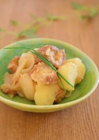 無加水鍋で仙台麩とじゃがいもの醤油麹煮