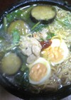 野沢菜と三つ葉のあんかけラーメン