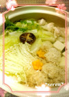 簡単!ポカポカ生姜入り鶏団子♡鍋