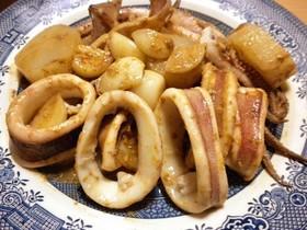 イカとにんにくのスタミナ炒め煮