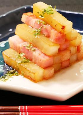 お弁当お野菜おかず・副菜:大根とベーコン