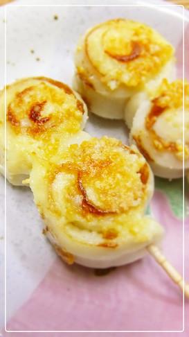 簡単♪ちくわ*マヨ粉チーズ焼き♡