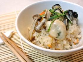 牡蠣の炊き込みご飯…