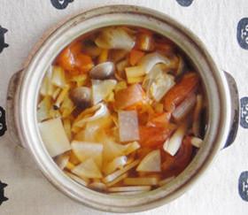 水と野菜のみのデトックススープ