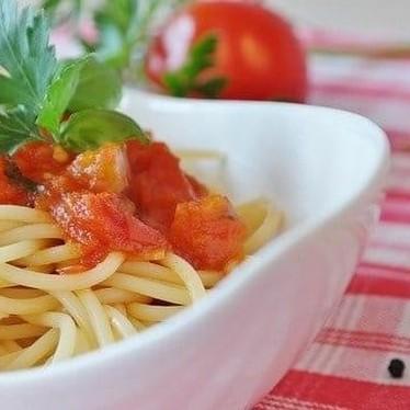 完熟トマトの冷製パスタ♪