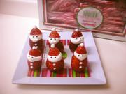 イチゴでサンタクロース クリスマスの写真