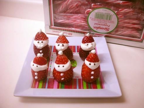 イチゴでサンタクロース クリスマス