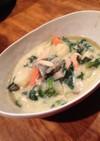 鮭とほうれん草の豆乳クリームシチュー
