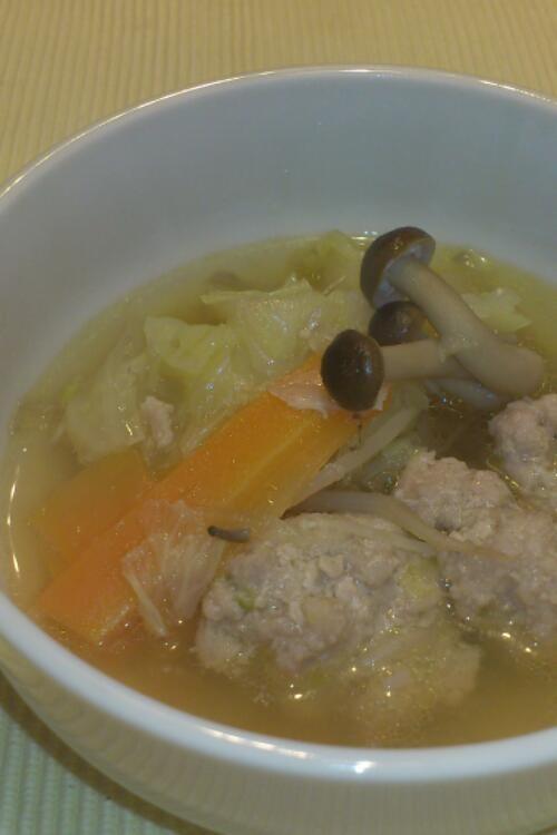 コク旨☆ふわふわ肉だんごスープ