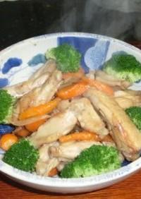 簡単ピクルスで鶏手羽中の炒め煮