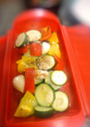 イタリアン野菜とにんにくのルクエ焼き