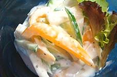 大根とパプリカの塩ヨーグルトサラダ♪