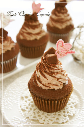 ⁂トリプルショコラカップケーキ⁂