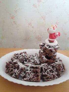 チョコクリスピーで☆クリスマスのお菓子☆