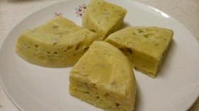 レンジでもっちりバナナケーキ(蒸しパン)