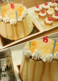 ♪バケツプリン♪6歳の誕生日♡(覚書)