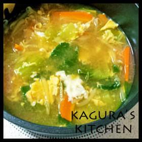 冷え性改善スープ2:チンゲン菜の卵スープ