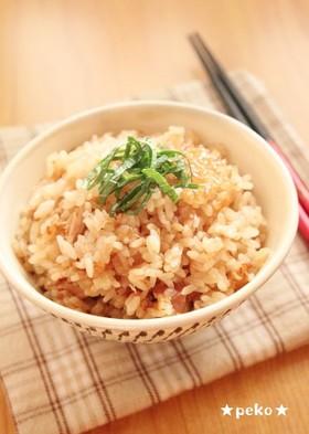 簡単美味☆ツナと梅の炊き込みご飯☆