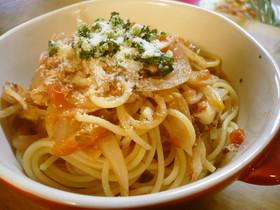 さば缶とトマト缶で♪栄養満点簡単パスタ