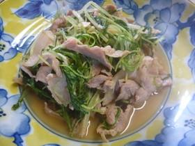 水菜と豚こま肉☆ガーリックポン酢炒め