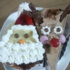クリスマス☆市販のケーキがサンタに変身!