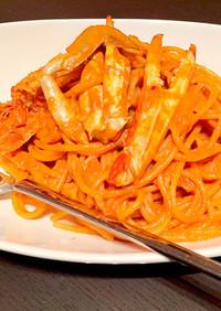 レストランの味!渡り蟹のクリームパスタ☆