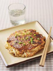 しゃきしゃき大根の味噌チーズお好み焼きの写真