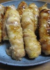 焼き豆腐の豚バラ巻