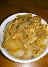 本格中華風✤豚と玉ねぎ炒め丼