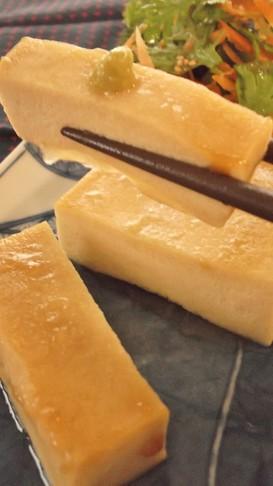おぉ~プリプリ♪高野豆腐ステーキ