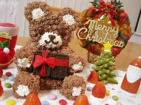 バレンタインに!くまさんのチョコケーキ