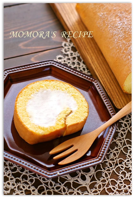 生地材料3つ♬ふわふわ簡単ロールケーキ♡