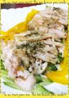 レンジでチン!簡単☆蒸し鶏サラダ