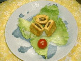 簡単★ヘルシー 高野豆腐の牛肉はさみピカタ
