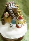 クリスマスケーキの飾り☆お菓子の家