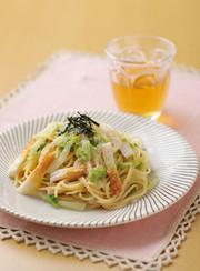 白菜とちくわのたらこスパゲティの写真