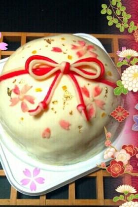 柚子のムースケーキ ホワイトグラサージュ