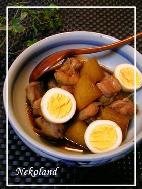鶏肉と冷凍大根で時短な煮物♡