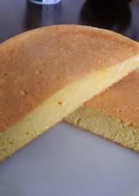 卵と砂糖と小麦粉のシンプルなパンケーキ