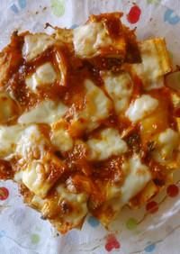 厚揚げ・キムチのコチュマヨ・チーズ焼き