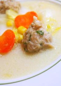 ♡白菜と鶏団子の豆乳鶏がらスープ♡