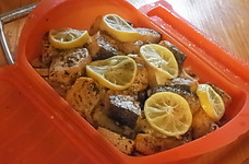 ルクエで!鮭とキャベツのレモン蒸し
