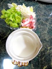 一人豆乳鍋の写真