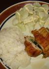 鶏の野菜巻き