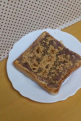 ♡甘じょっぱい♡塩麹きな粉小倉トースト