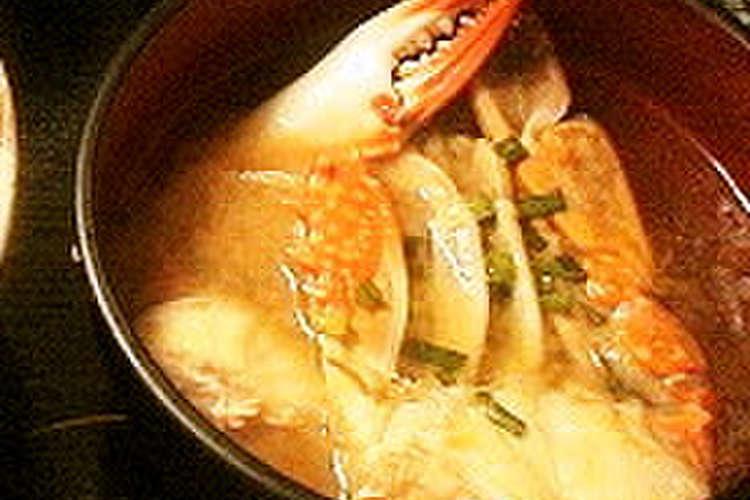 渡り 蟹 味噌汁