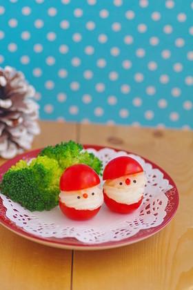 トマトとマッシュポテトのサンタ*キャラ弁